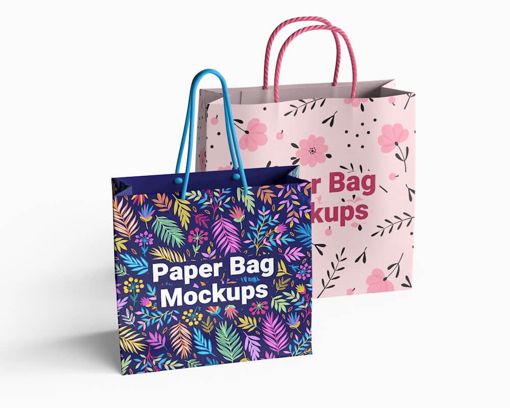 Free Paper Bag Mockups 01
