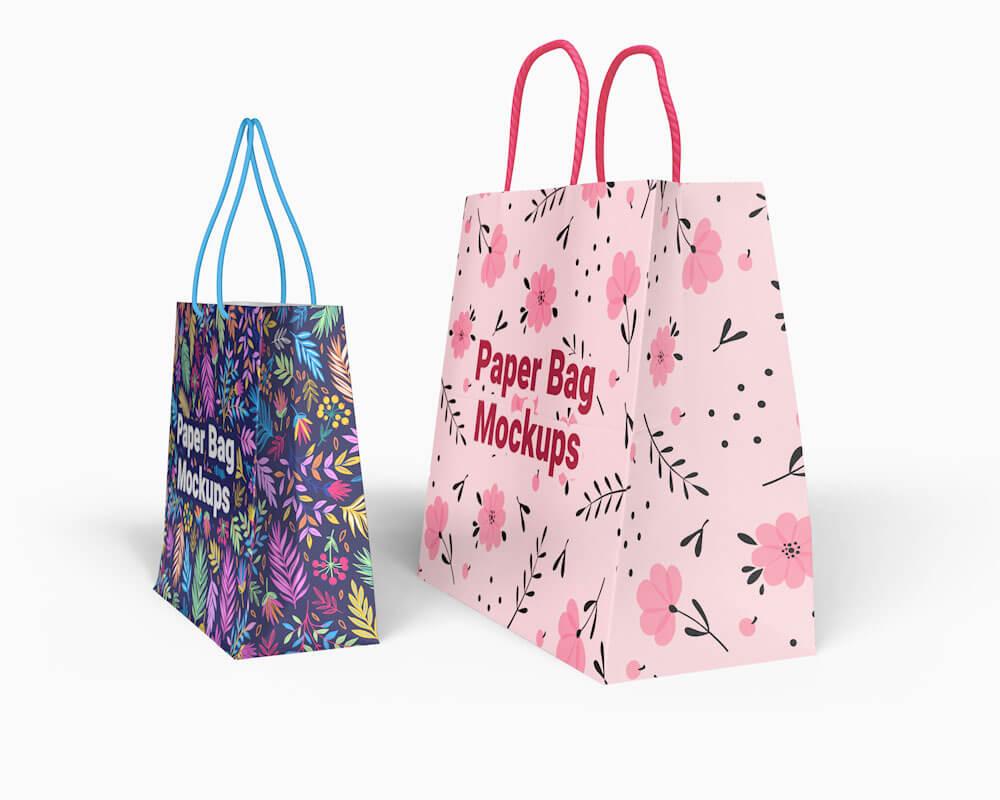 Free Paper Bag Mockups 02