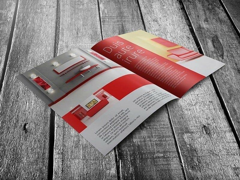Half-fold-Flyer-Mockup