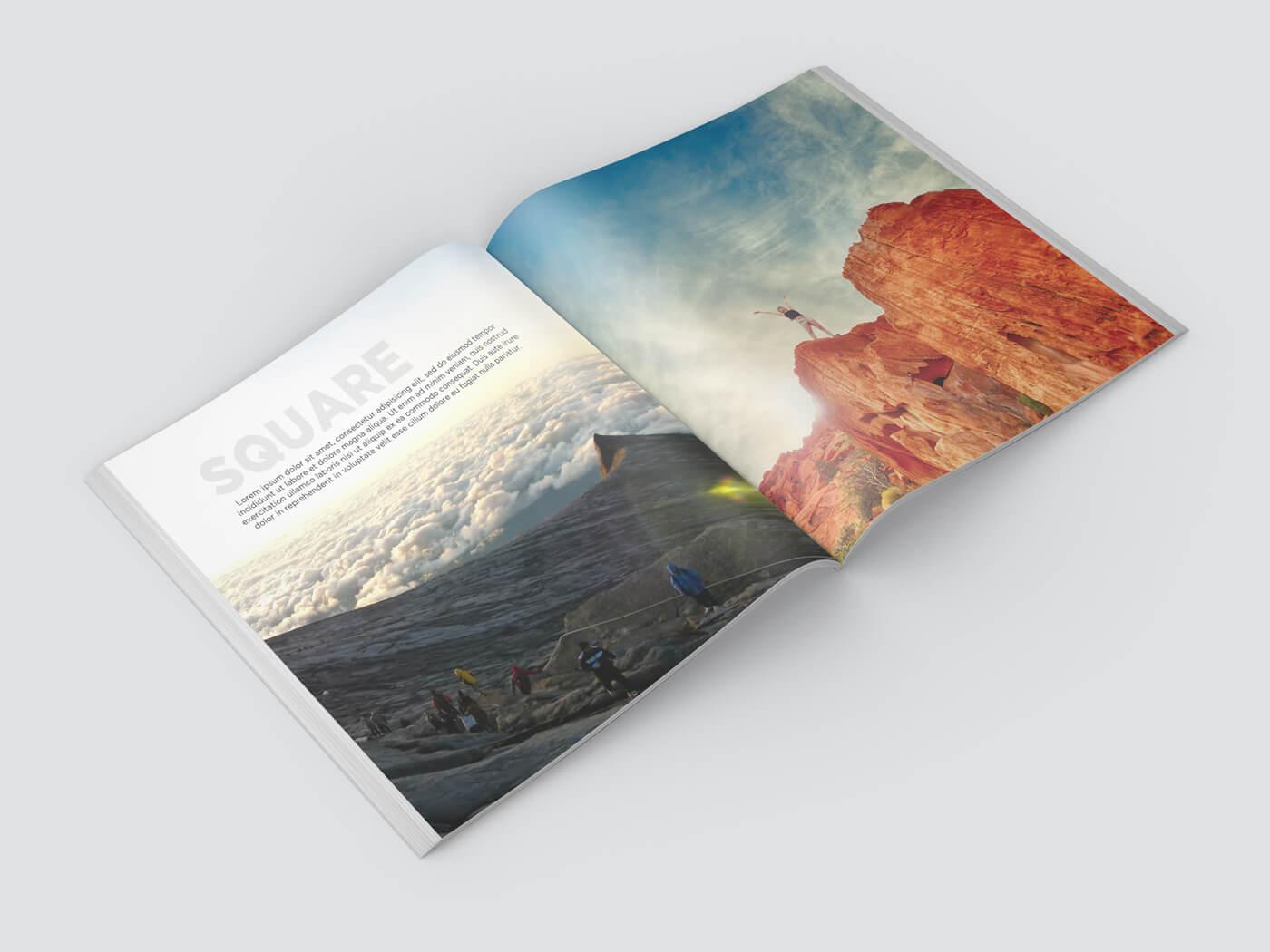 Square Book Mockup 03