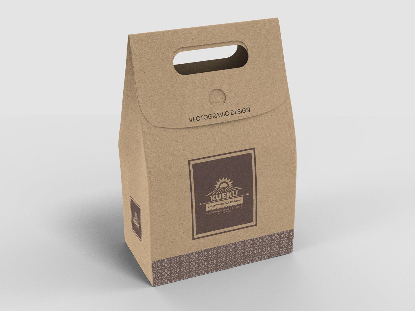 Cake and Cookie Kraft paper Bag Mockup 01