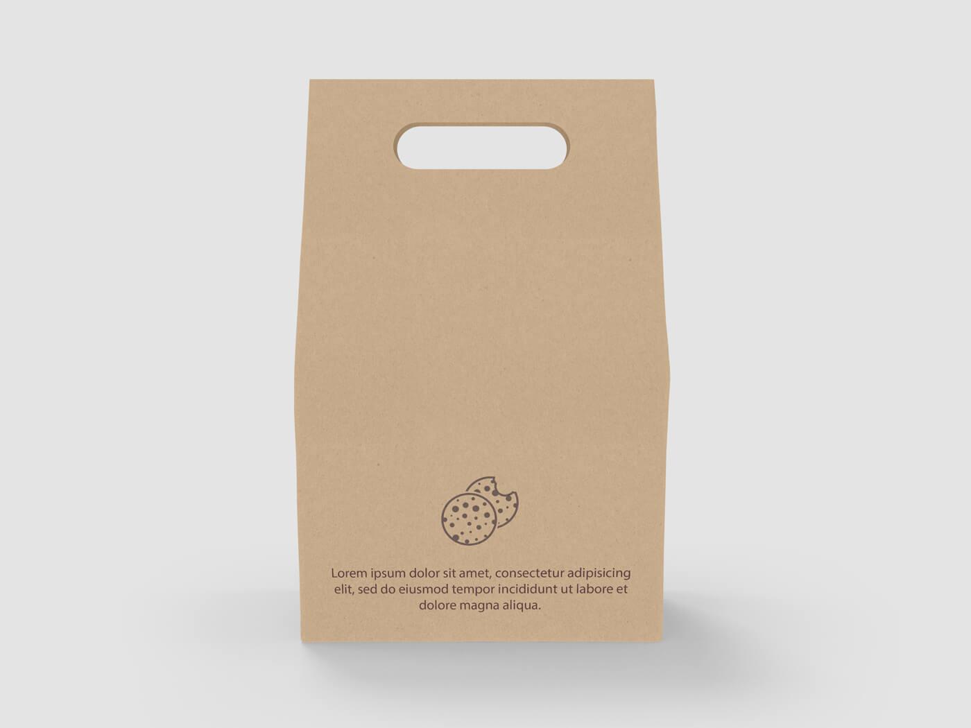 Cake and Cookie Kraft paper Bag Mockup 03