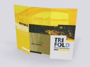 8.5x11 Tri Fold Brochure Mockups