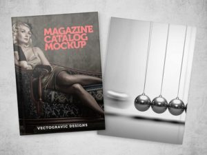 Free Magazine Catalog Mockup