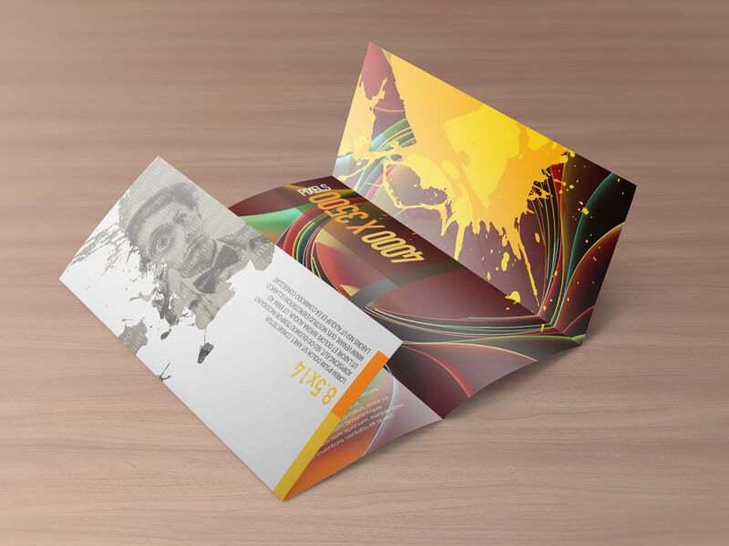 double gate fold brochure mockups vectogravic design. Black Bedroom Furniture Sets. Home Design Ideas