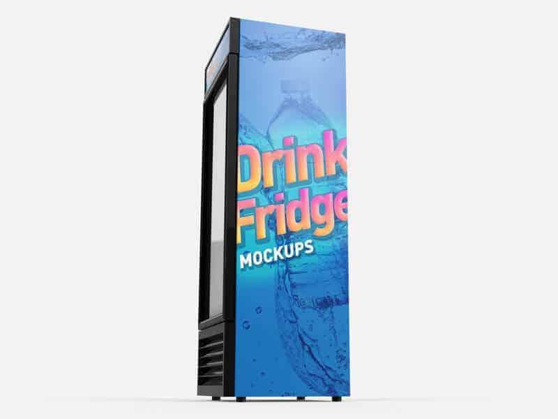 Free Drink Fridge Refrigerator Mockups