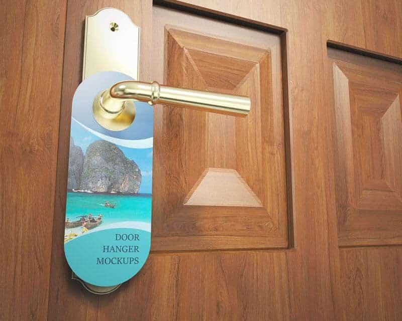 Door Hanger Mockups