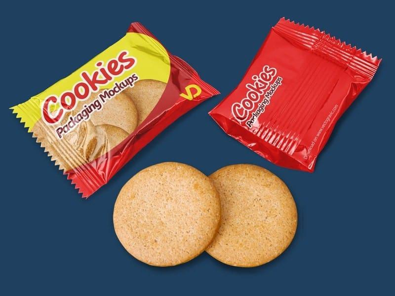 Free Cookies Packaging Mockups