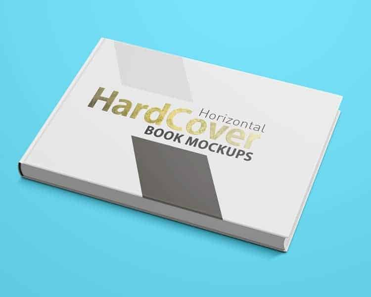 Landscape Hardcover Book Mock Ups On Vectogravic Design