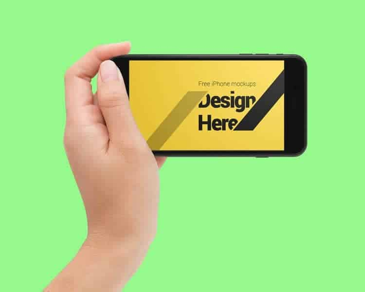 Hand Hold IPhone Mock ups