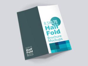 8.5×3.75 Half Fold Vertical Brochure Mockups