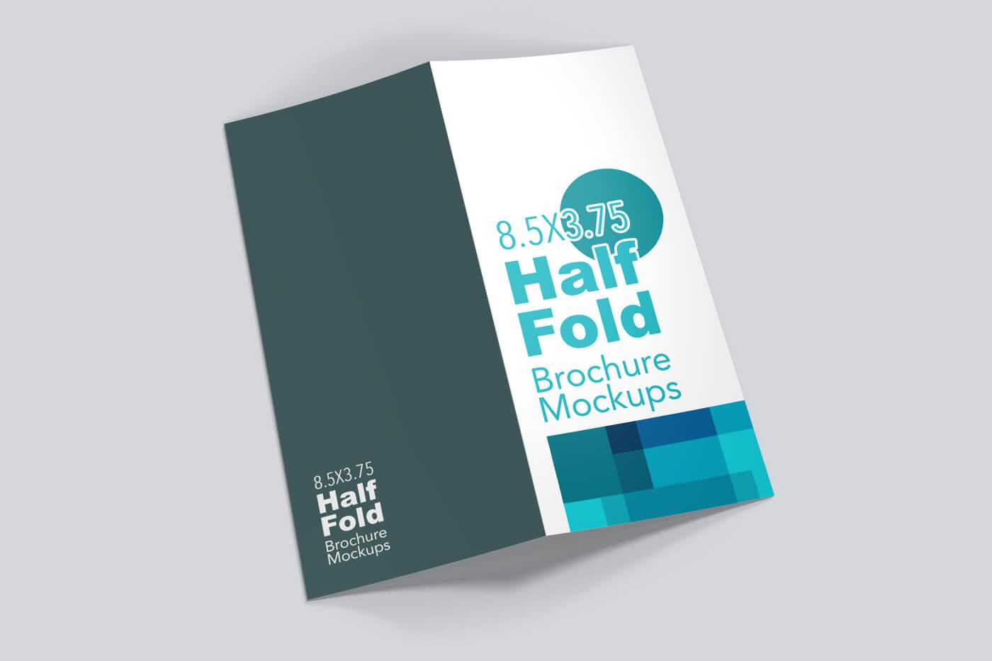 8.5x5.5 Half Fold Vertical Brochure Mockup 02