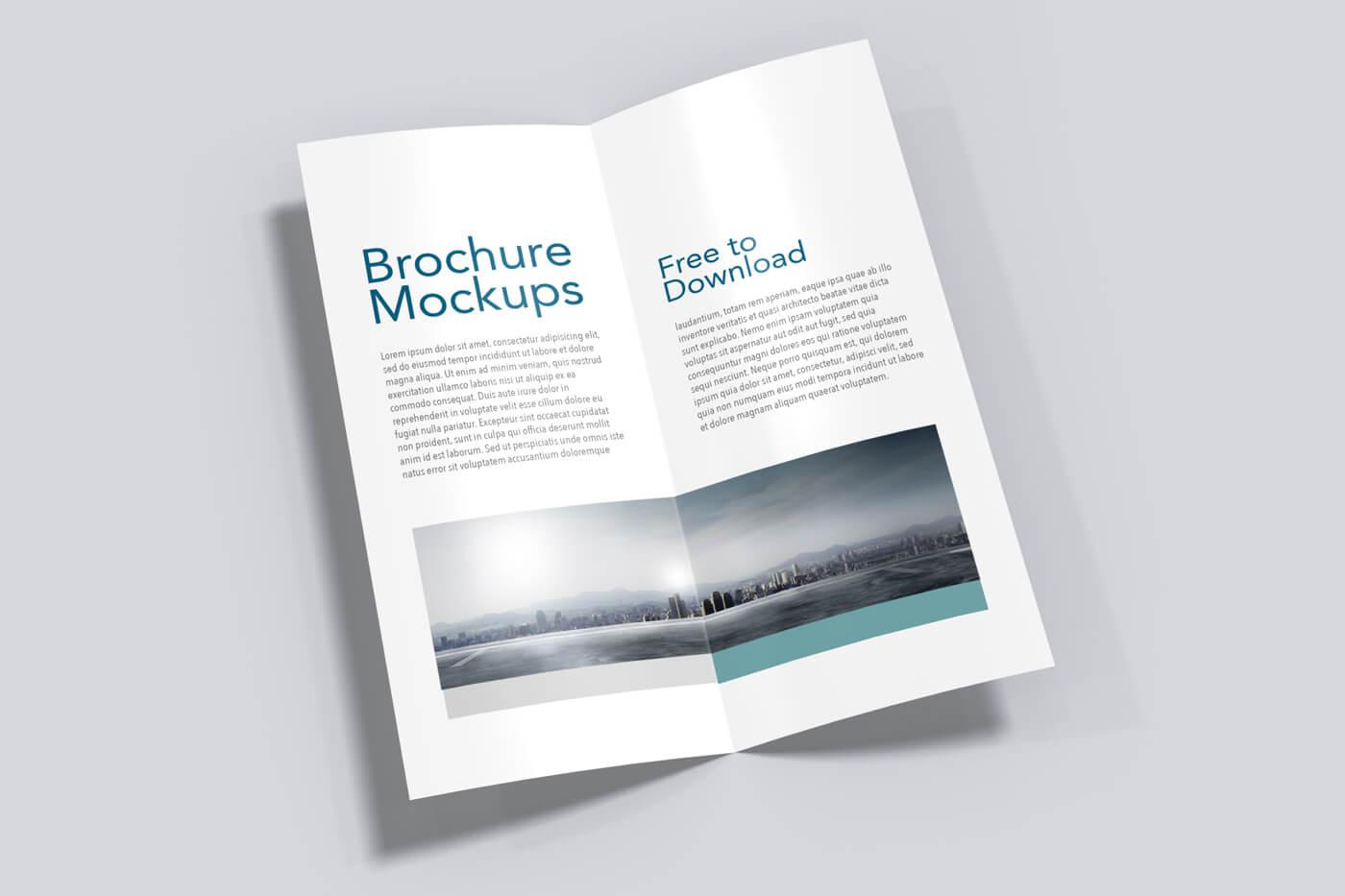 8.5x5.5 Half Fold Vertical Brochure Mockup 03