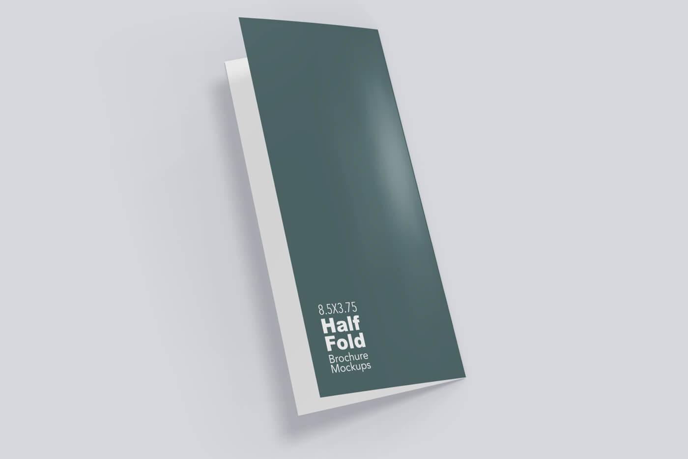 8.5x5.5 Half Fold Vertical Brochure Mockup 04