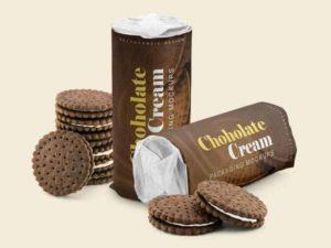 Chocolate Cream Packaging Mockup