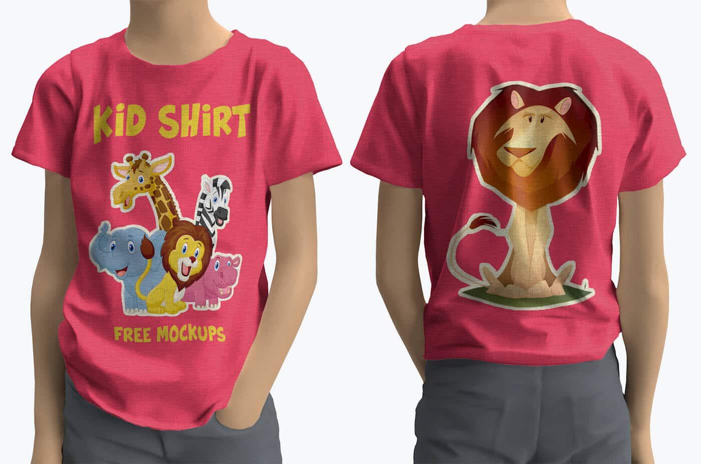Free Kids Shirt Mockups