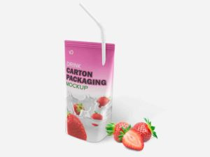 Drink Carton Packaging Mockup