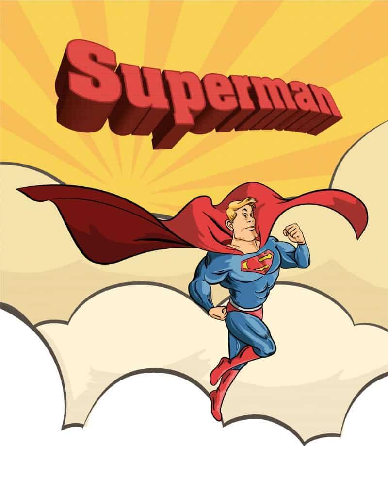 Superman Cartoon Illustration