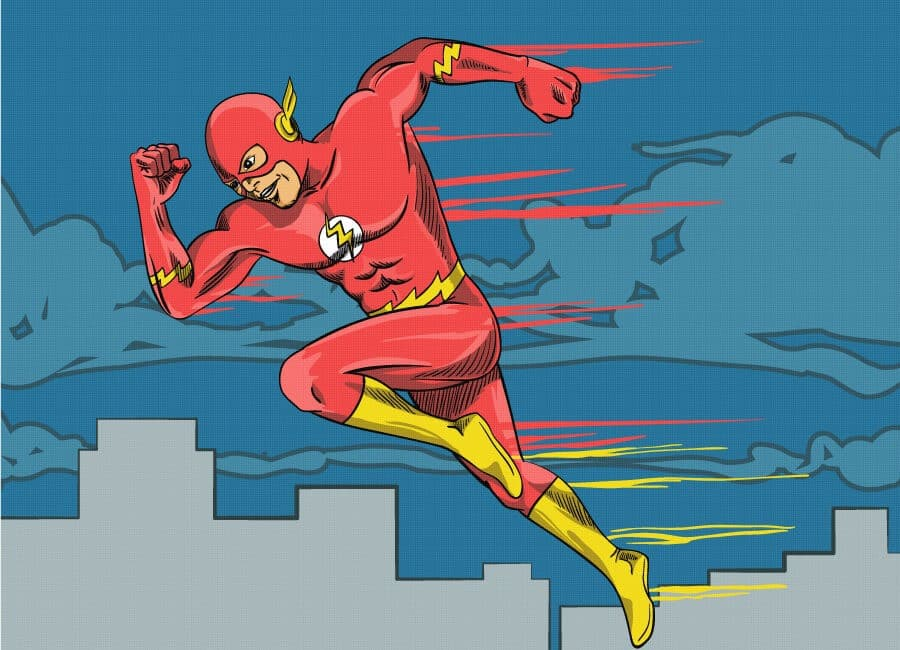 The Flash Cartoon Illustration