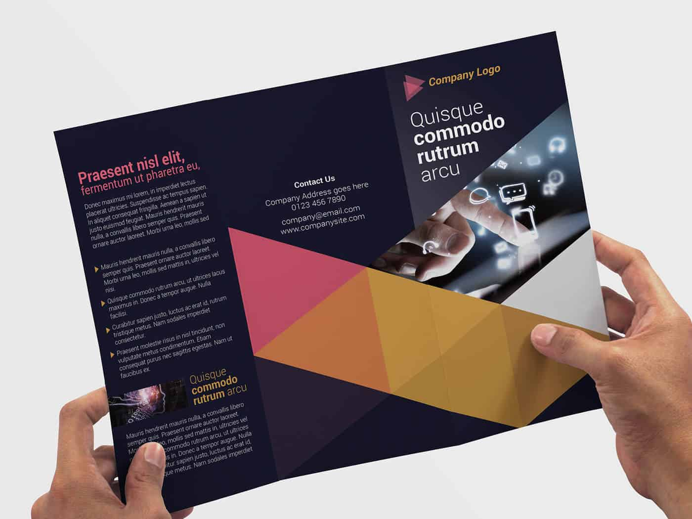 Tri-fold IT Technology Flyer Template