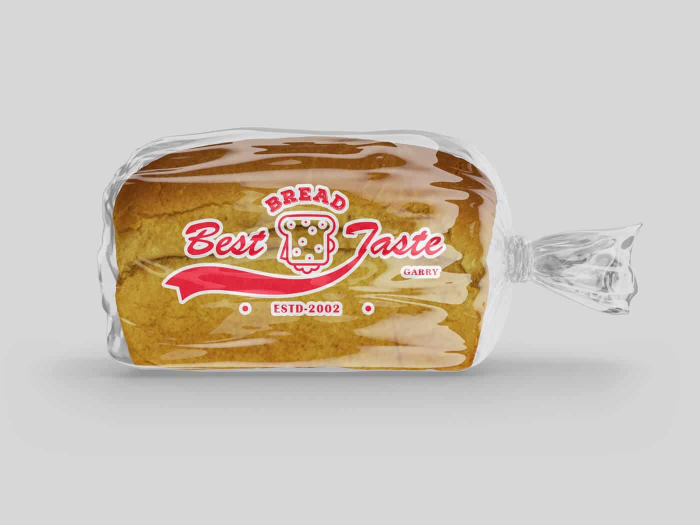 Bread Plastic Bag Mockup