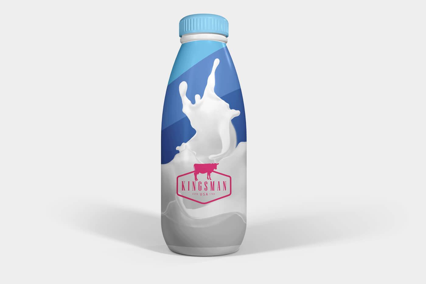 Milk and Drink Water Plastic Bottle Mockups 01