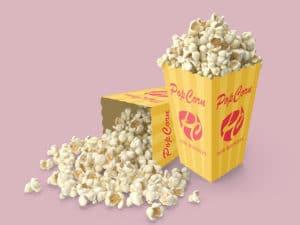 Popcorn Box Mockups