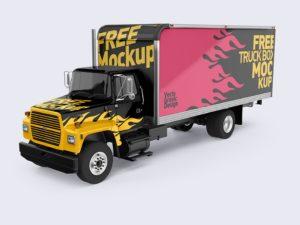 Ford Box Truck Free Mockups