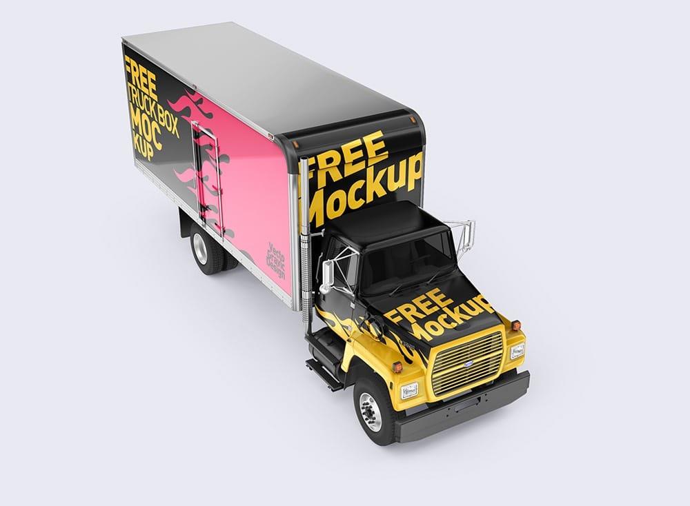 Ford Box Truck Free Mockups 01