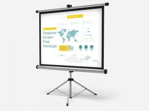Free Download Projector Screen Mockups