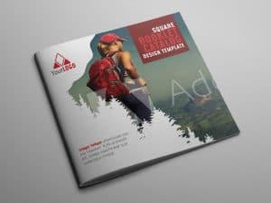 Square Booklet Catalog Design Template