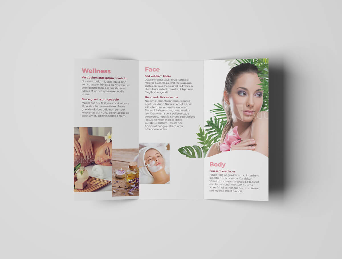 Cosmetic and Beauty Tri Fold Template 06