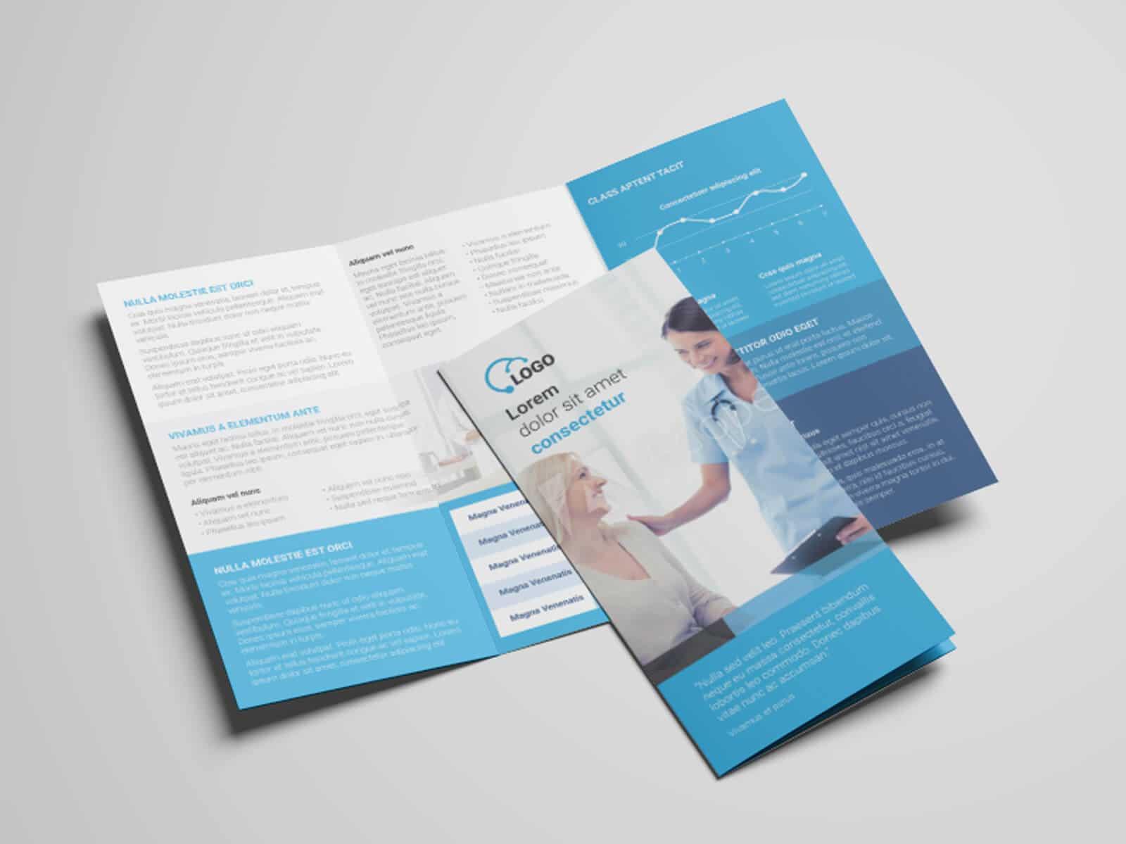 Health Medicare Tri fold Flyer Template 03