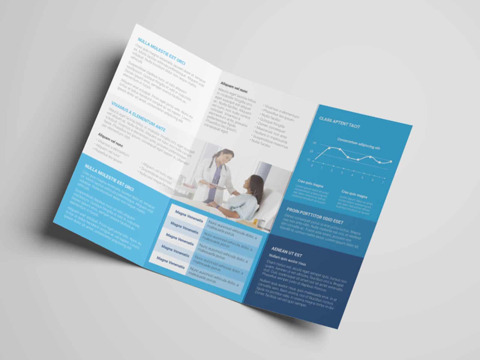 Health Medicare Tri fold Flyer Template 06