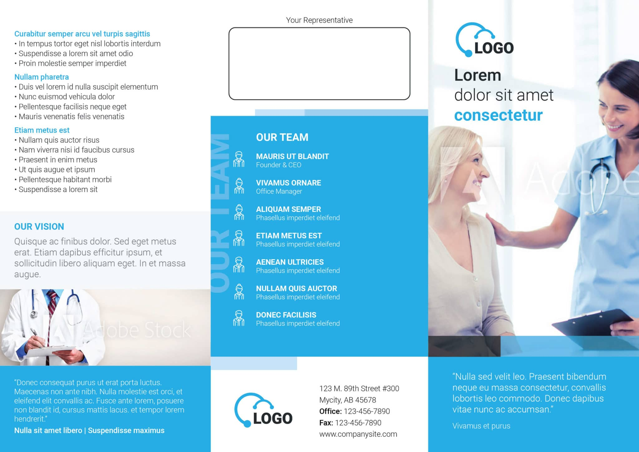 Health Medicare Tri fold Flyer Template plain 01