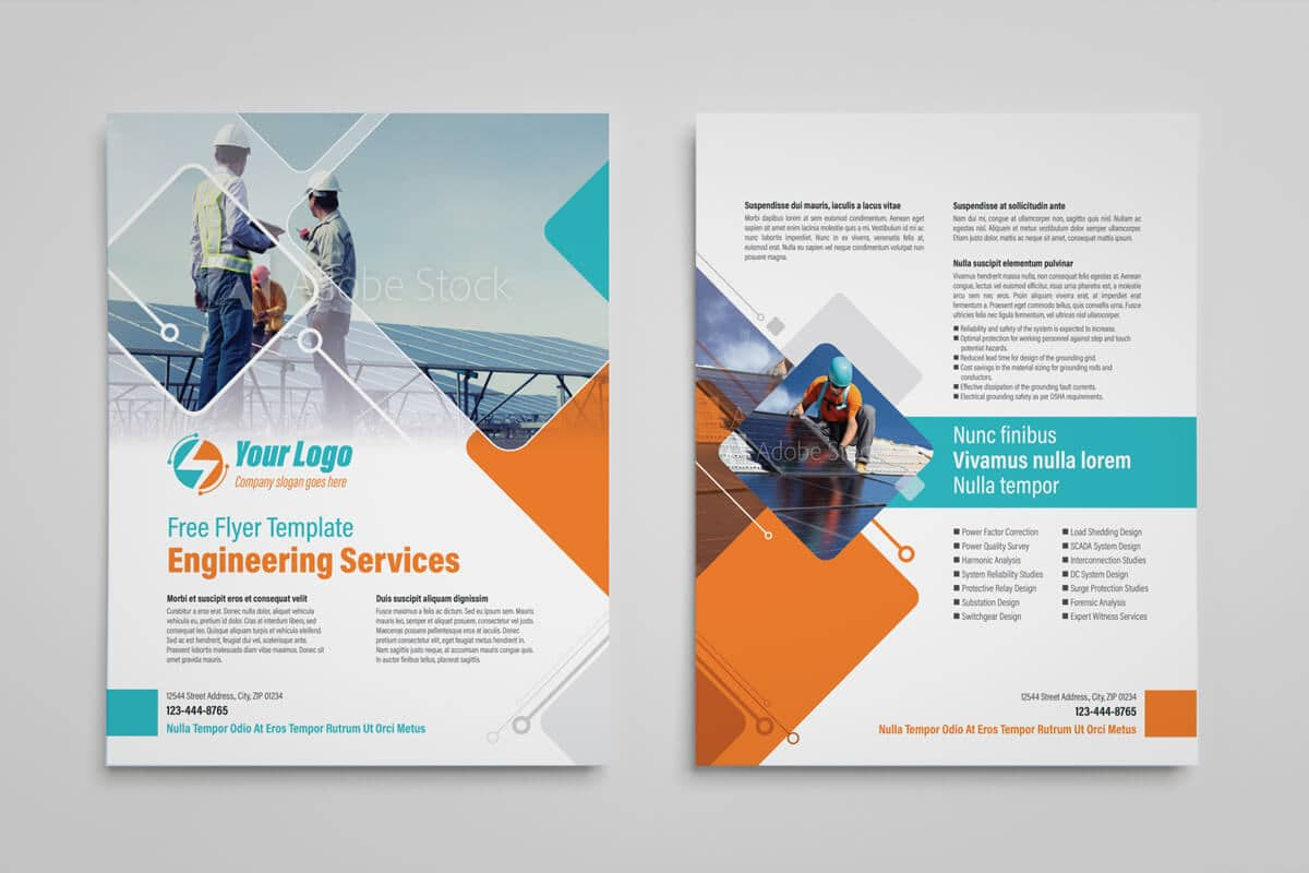 Power Engineering Services Flyer Template 03