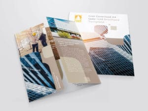 Free Download A4 Gate Fold Brochure Template