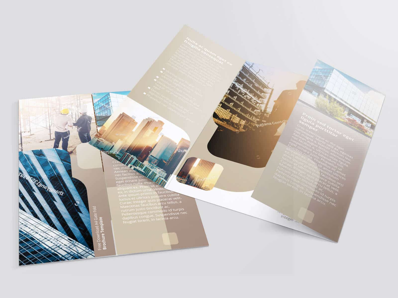 17 x 11 Gate Fold Brochure Mockup 02