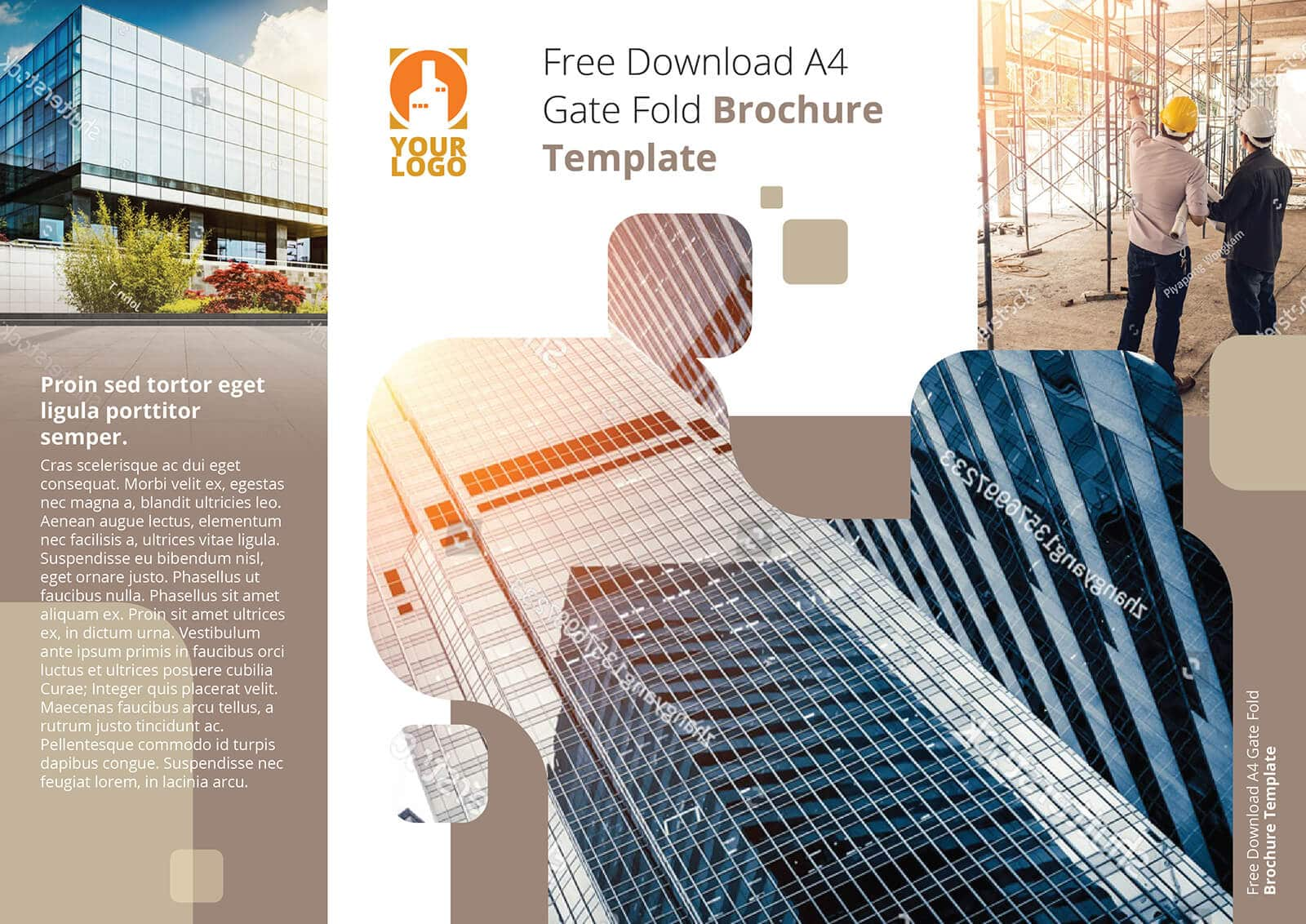 Free Download A4 Gate Fold Brochure Template Plain 01