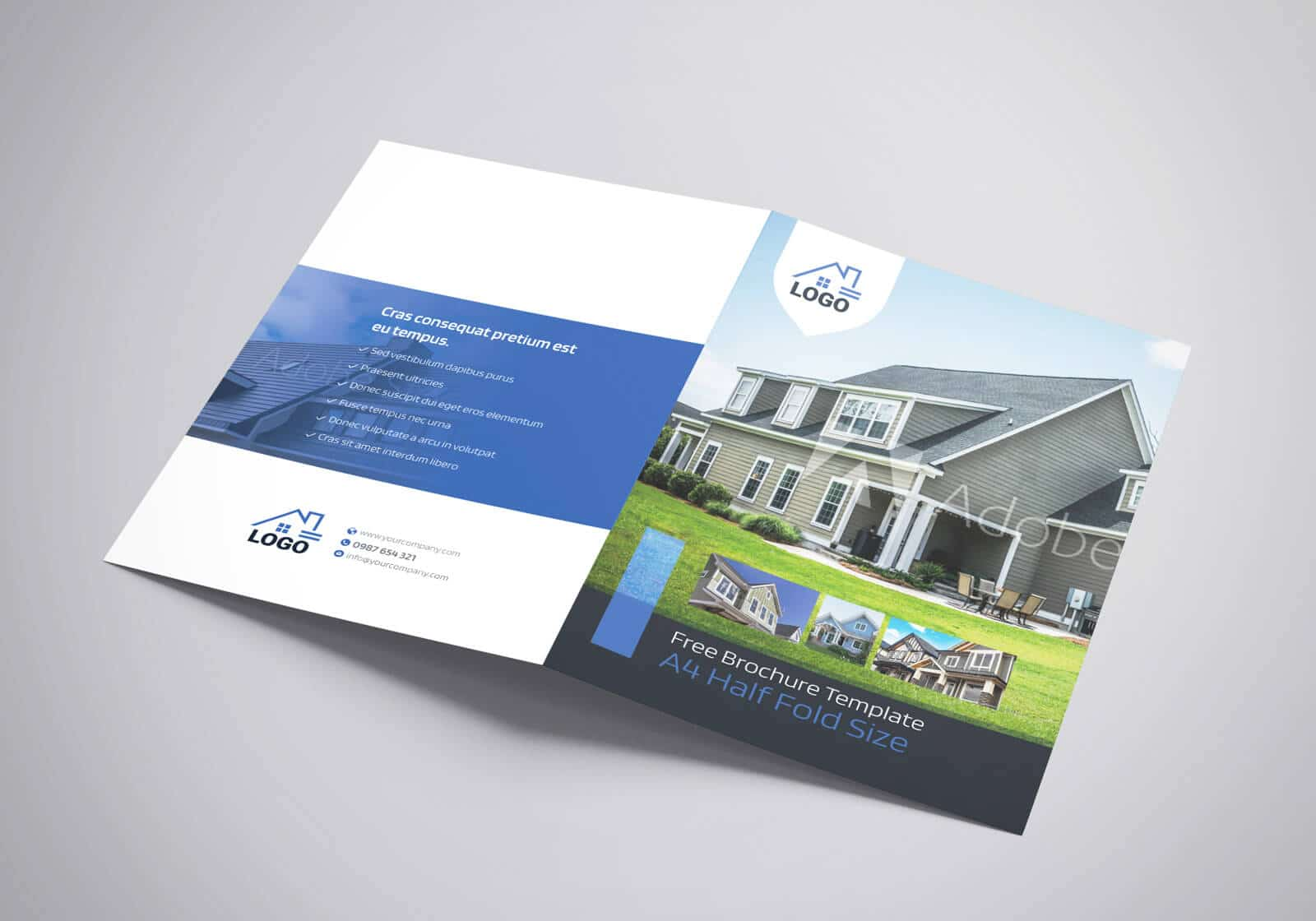 Residential Real Estate Half Fold Brochure Template 03