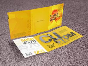 11x25.5 Tri-Fold Brochure Mockup Template