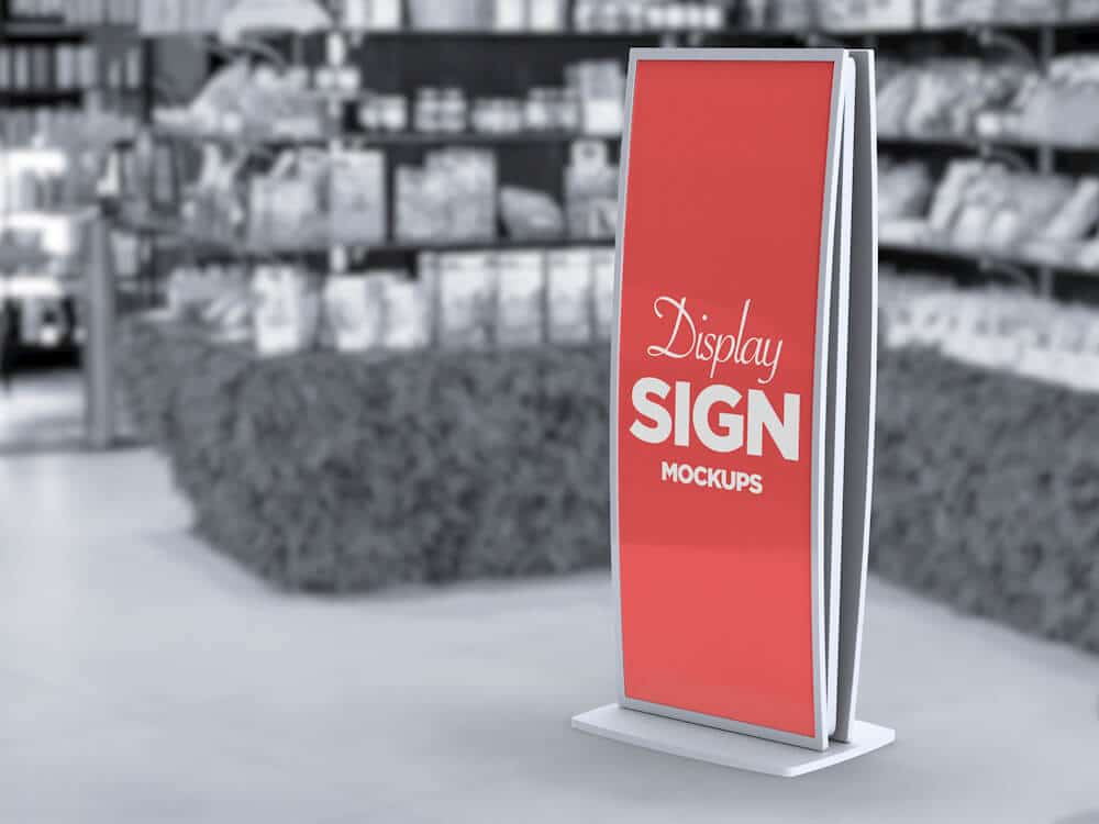 Stand Display Sign Mockup 01