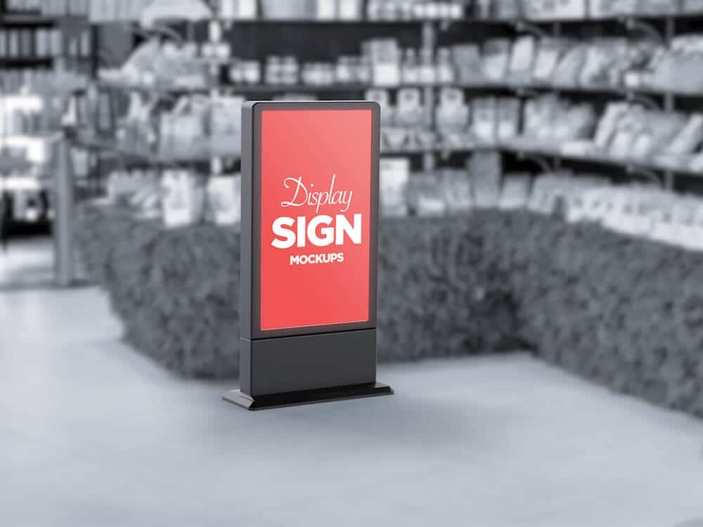 Stand Display Sign Mockup 04