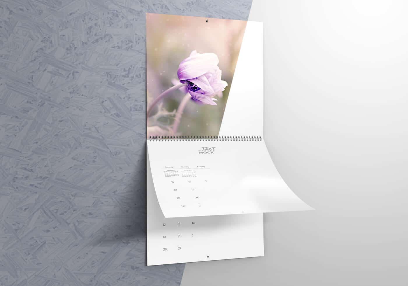12″x12″ Wall Calendar Mockups