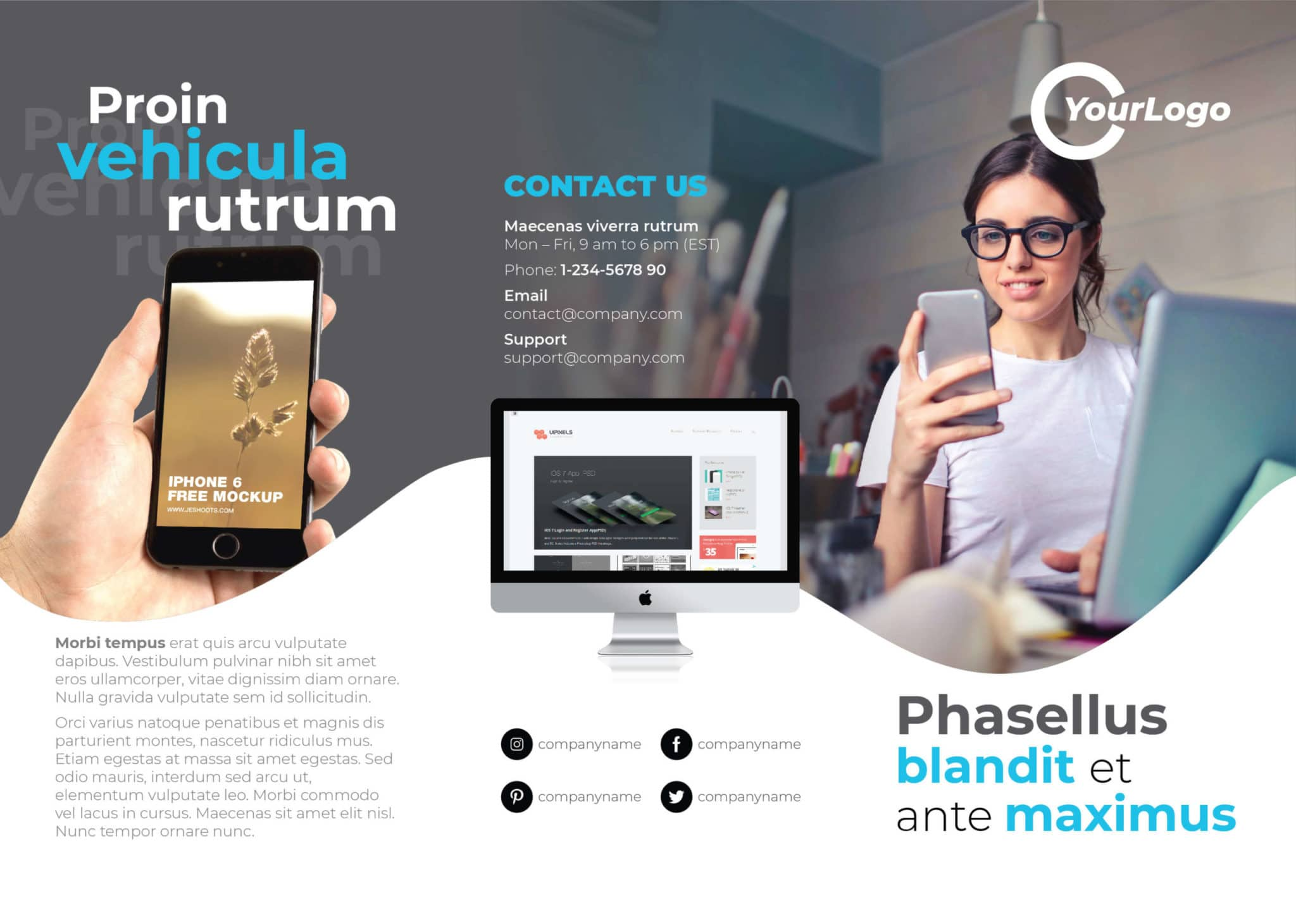 Multipurpose Trifold Flyer Template outside scaled