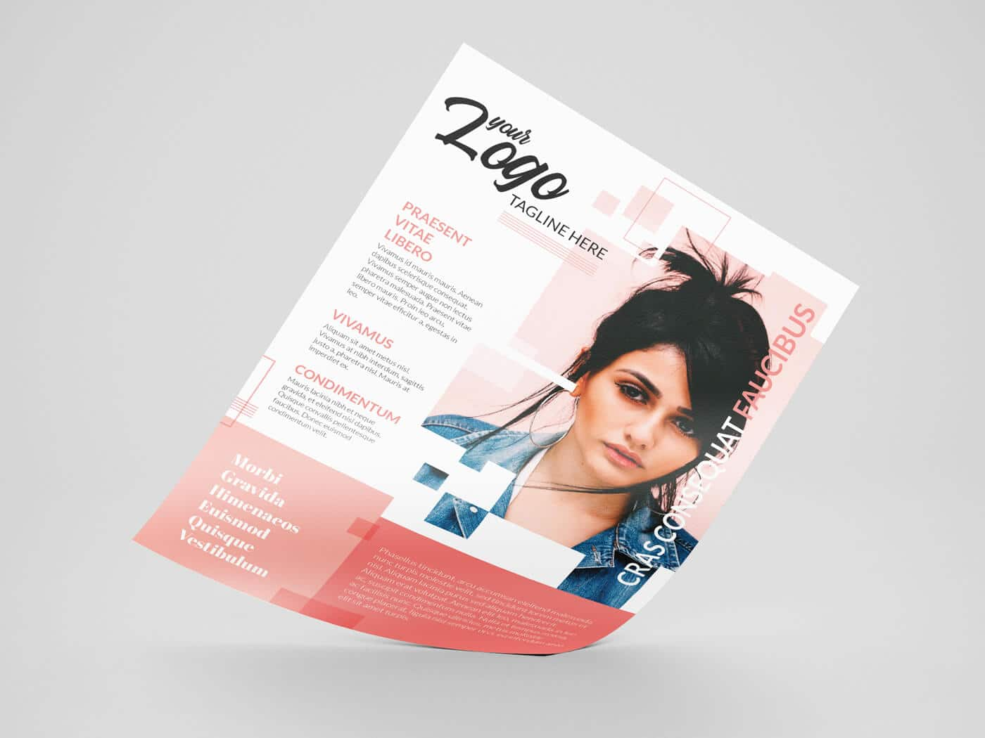 A4 Double Sided Flyer Template 01