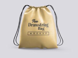 Drawstring Bag Mockup