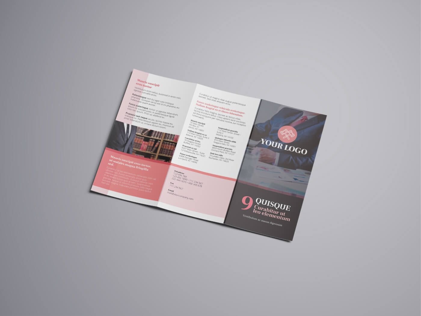 Attorney & Law Tri fold Brochure Template 01