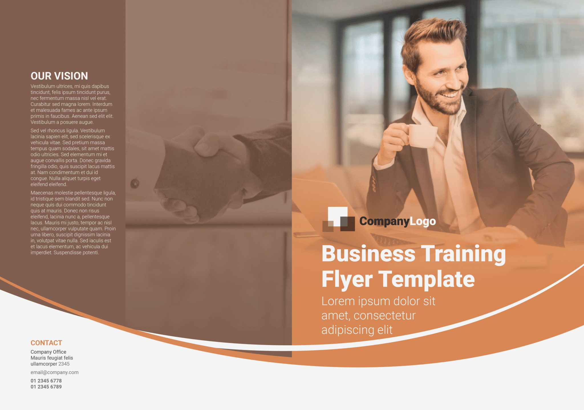 Business Training Flyer Template Outside