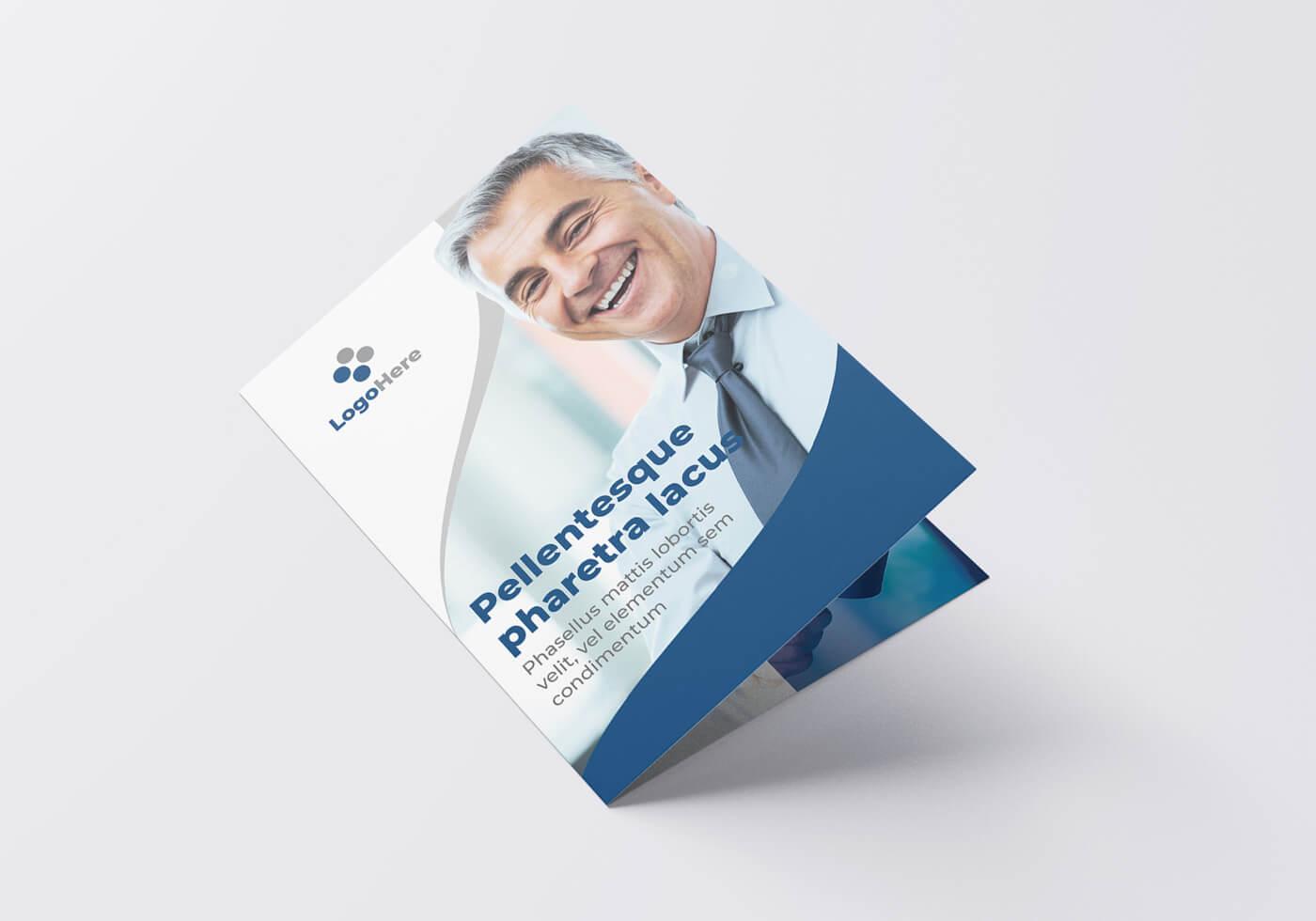 Half Fold Business Flyer Template 01